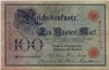 Reichsbanknote 100 Mark, 1905, Ro. 23b, vf