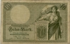 Reichsbanknote 10 Mark, 1906, Ro. 27b, f