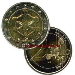 2 Euro Belgien 2006 Atomium Euro Münzen Banknoten Geldscheine