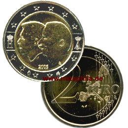 2 Euro Belgien 2005 ökonomischer Vertrag Euro Münzen Banknoten