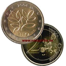 2 Euro Finnland 2004 Eu Erweiterung Euro Münzen Banknoten