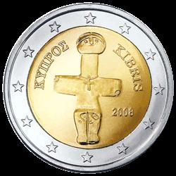 2 Euro Kursmünze Zypern 2008 Euro Münzen Banknoten Geldscheine