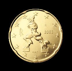 Italien 20 Cent Kursmünze 2002 Euro Münzen Banknoten Geldscheine