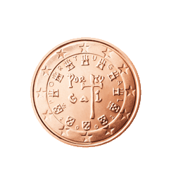 Portugal 2 Cent Kursmünze 2002 Euro Münzen Banknoten Geldscheine