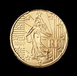 Frankreich 20 Cent Kursmünze 2001 Euro Münzen Banknoten