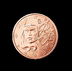 Frankreich 2 Cent Kursmünze 2001 Euro Münzen Banknoten
