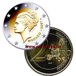 2 Euro Monaco Sondermünze 2007 Grace Kelly Euro Münzen Banknoten