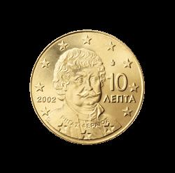 Griechenland 10 Cent Kursmünze 2002 Euro Münzen Banknoten