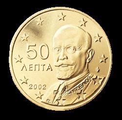 Griechenland 50 Cent Kursmünze 2002 Euro Münzen Banknoten