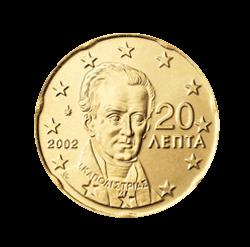 Griechenland 20 Cent Kursmünze 2002 Euro Münzen Banknoten