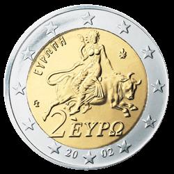 Griechenland 2 Euro Kursmünze 2002 Euro Münzen Banknoten