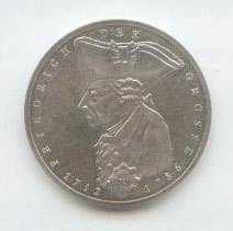 5 Dm Friedrich Der Grosse 1986 F Euro Münzen Banknoten