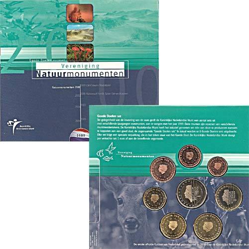 Niederlande Kursmünzensatz 2000 Im Folder Euro Münzen Banknoten