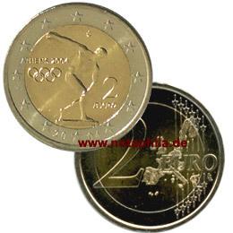 2 Euro Griechenland 2004 Olympische Spiele In Athen Euro Münzen