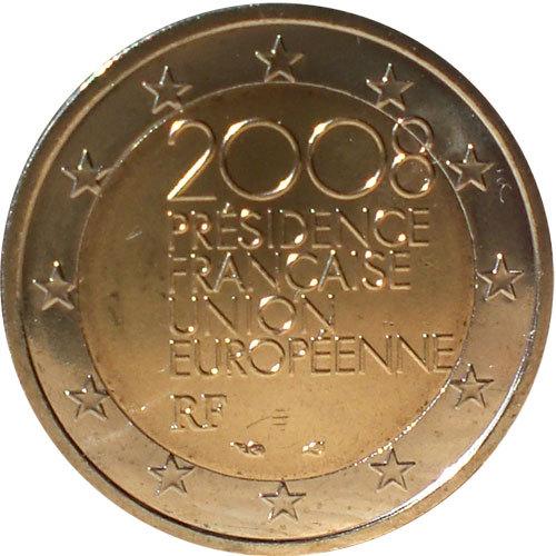 2 Euro Frankreich 2008 Eu Ratspräsidentschaft Euro Münzen