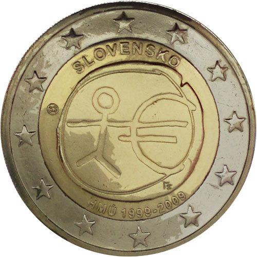 2 Euro Slowakei 2009 Wwu Euro Münzen Banknoten Geldscheine