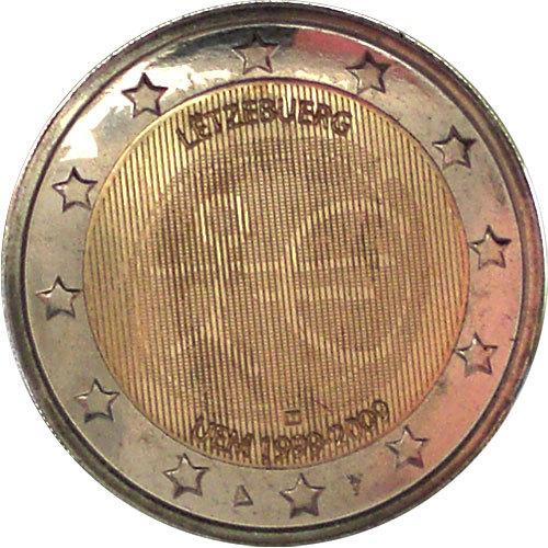 2 Euro Luxemburg 2009 Wwu Euro Münzen Banknoten Geldscheine