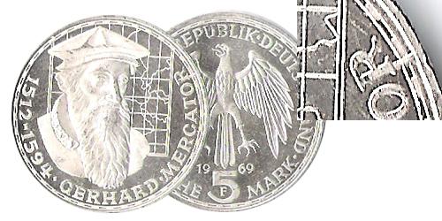 Fehlprägung 5 Dm Gerhard Mercator Euro Münzen Banknoten