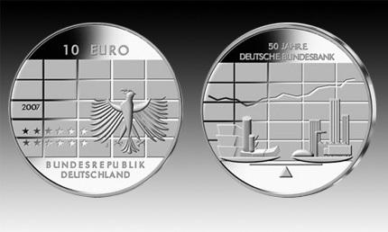10 Euro Deutschland Dt Bundesbank 2007 Bfr Euro Münzen Banknoten