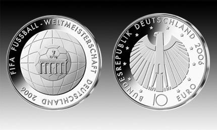 10 Euro Deutschland Fussball Wm 2006 D Bfr