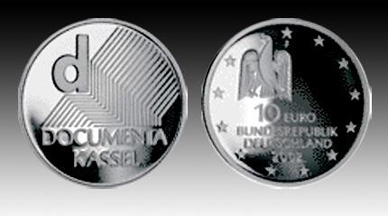 10 Euro Deutschland Documenta In Kassel 2002 Bfr Euro Münzen