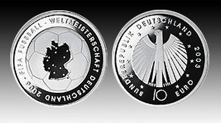 10 Euro Deutschland Fußball Wm 2003 A Bfr Euro Münzen Banknoten