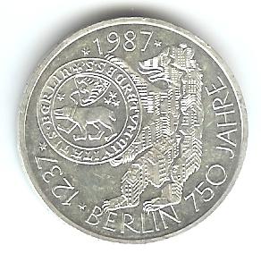 10 Dm 750 Jahre Berlin 1987 J Euro Münzen Banknoten Geldscheine