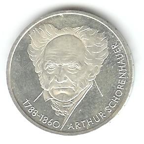 10 Dm Arthur Schopenhauer 1988 D Euro Münzen Banknoten