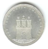 10 Dm 800 Jahre Hafen Und Hamburg 1989 J Euro Münzen Banknoten