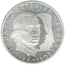 10 Dm Johann Gottfried Herder 1994 G Euro Münzen Banknoten