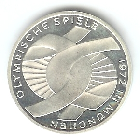 10 Dm Olympia München 1972 Ringe Euro Münzen Banknoten