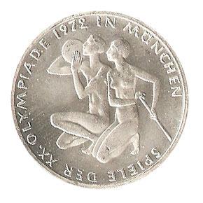 10 Dm Olympia München 1972 Sportler Euro Münzen Banknoten
