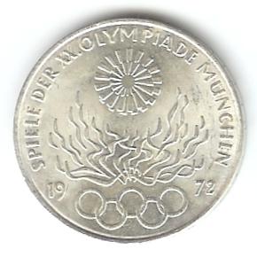 10 Dm Olympia München 1972 Olympisches Feuer Euro Münzen
