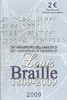 2 Euro Italien 2009 Louis Braille im  Folder