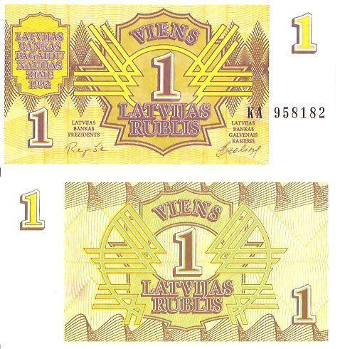 Lettland 1 Rublis P 35 Euro Münzen Banknoten Geldscheine
