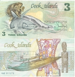 Cook Islands 3 Dollars P. 3a