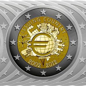 2 Euro Münzen 10 Jahre Euro 2012 Komplett Kaufen