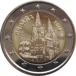 2 Euro Münze Spanien 2012 Kathedrale Von Burgos Notaphila