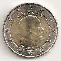 2 Euro Monaco 2011 Kursmünze Prinz Albert Notaphila