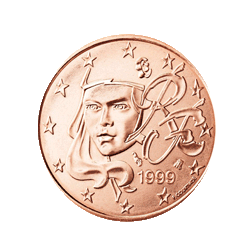Frankreich 5 Cent Kursmünze 1999 Euro Münzen Banknoten