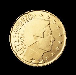 Luxemburg 20 Cent Kursmünze 2008 Euro Münzen Banknoten