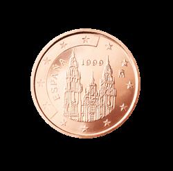 Spanien 2 Cent Kursmünze 1999 Euro Münzen Banknoten Geldscheine