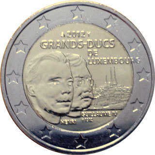 2 Euro Münze Luxemburg 2012 Wilhem Notaphila