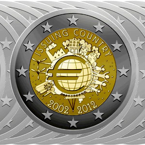 2 Euro Münzen 10 Jahre Euro 2012 Komplett 16 Münzen Notaphila