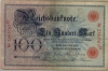 Reichsbanknote 100 Mark, 1898, Ro. 17, vf