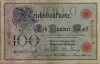 Reichsbanknote 100 Mark, 1905, Ro. 23a, f