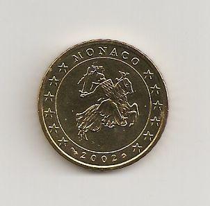 Monaco 50 Cent Kursmünze 2002 Euro Münzen Banknoten Geldscheine