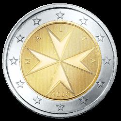 2 Euro Kursmünze Malta 2013 Euro Münze Aus Malta Notaphila