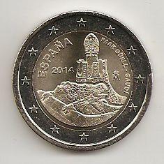 2 Euro Münze Spanien 2014 Güellgaudi Notaphila