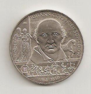 10 Euro Münze Deutschland Johann Gottfried Schadow 2014 Notaphila
